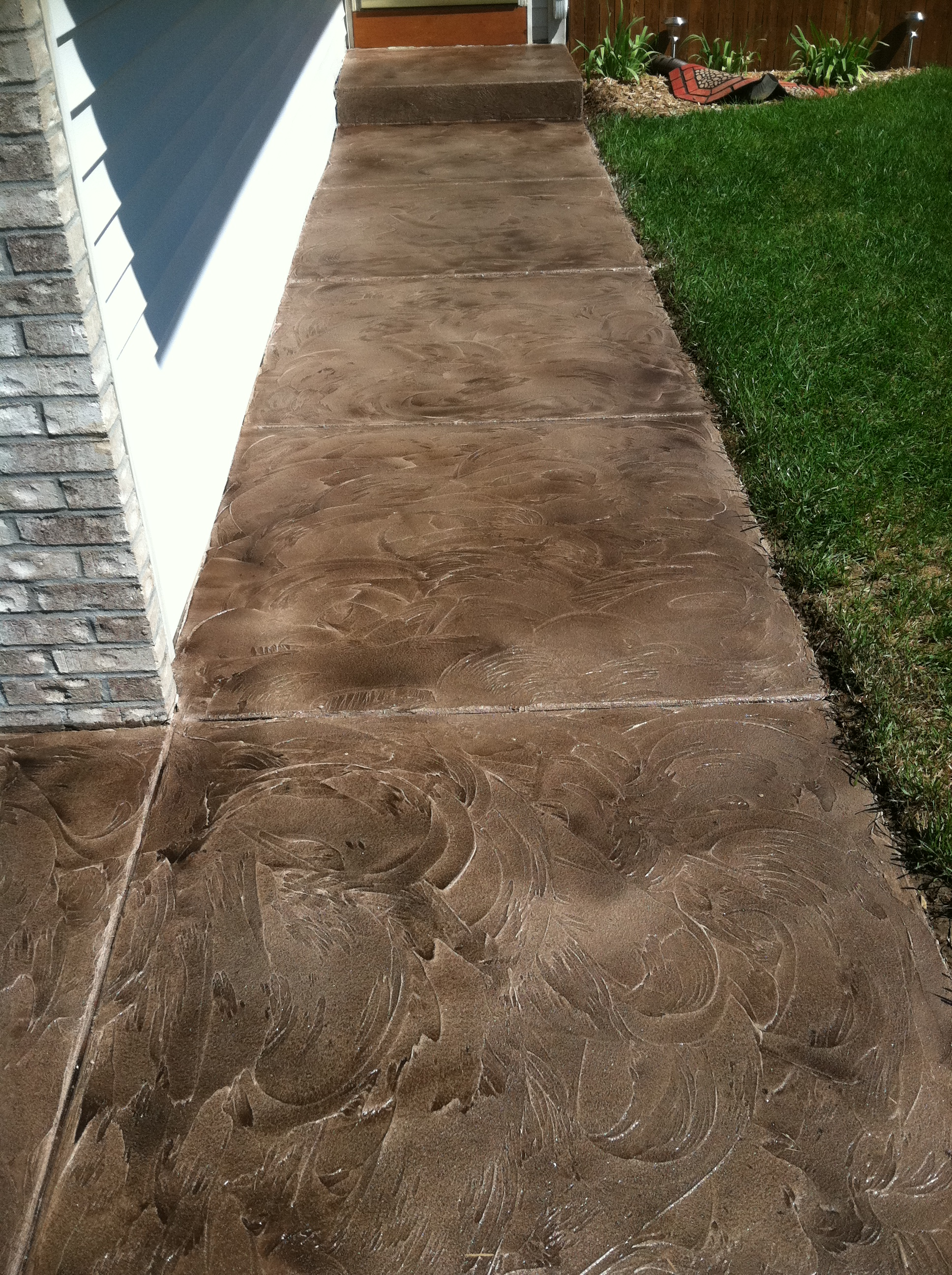 Exciting decorative concrete overlay pictures best for Cleaning colored concrete